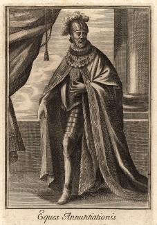 Рыцарь ордена Святого Благовещения (Аннунциаты) - высшего ордена Савойского дома и Итальянского королевства. Кавалеры ордена автоматически становились кавалерами ордена Святых Маврикия и Лазаря и кавалерами Большого креста.