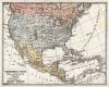 Политическая карта Соединённых Штатов Америки, Мексики и Антильских островов. Новый учебный географический атлас для полного гимназического курса, состоящий из 38 карт. Санкт-Петербург, 1907