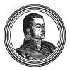 """Этьен-Жак-Жозеф-Александр Макдональд (1765—1840) — происходил из шотландской семьи якобитов, бежавшей во Францию, герой революционных войн, герцог Тарентский, маршал (1809) и пэр Франции (1814). Илл. к пьесе С.Гитри """"Наполеон"""", Париж, 1955"""