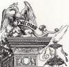 Грифон, венчающий колонну (деталь дюреровской Триумфальной арки императора Максимилиана I)