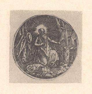 Святой Иероним. Гравюра Альбрехта Дюрера, выполненная в 1511 году (Репринт 1928 года. Лейпциг)