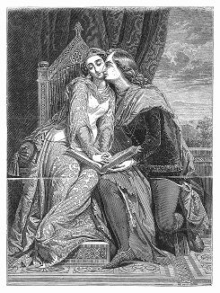 Франческа да Римини (1255 -- 1285 гг.) -- итальянская дама, ставшая одним из вечных образов в европейской культуре -- картина кисти французского художника Жана Огюста Доминика Энгра (1780 -- 1867 гг.) (The Illustrated London News №93 от 10/02/1844 г.)