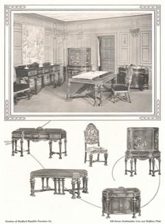 Реклама антикварной мебели от Rockford Republic Furniture Co.
