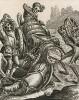 """Смерть и Перевозчик вина (""""Пляски смерти"""" Ганса Гольбейна Младшего, гравированные Венцеслаусом Холларом (лист 26))"""