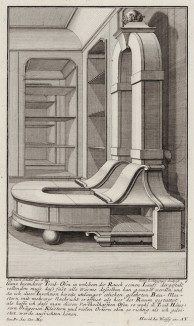 Печь для оранжереи. Johann Jacob Schueblers Beylag zur Ersten Ausgab seines vorhabenden Wercks. Нюрнберг, 1730