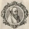 Пифагор Самосский (570--490 гг. до н.э.) (лист 7 иллюстраций к известной работе Medicorum philosophorumque icones ex bibliotheca Johannis Sambuci, изданной в Антверпене в 1603 году)