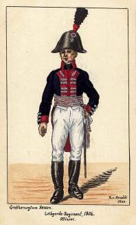 1806 г. Офицер гвардейского пехотного полка Великого герцогства Гессен. Коллекция Роберта фон Арнольди. Германия, 1911-29