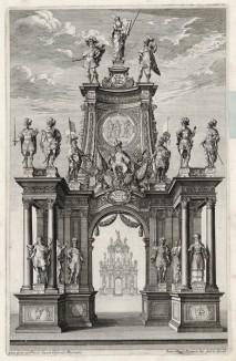 Фронтиспис Historischer Bilder-Bibel. Том II (из Biblisches Engel- und Kunstwerk -- шедевра германского барокко. Аугсбург. 1700 год)