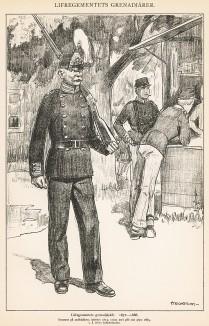 Гренадеры шведской лейб-гвардии в униформе образца 1872-86 гг. Svenska arméns munderingar 1680-1905. Стокгольм, 1911