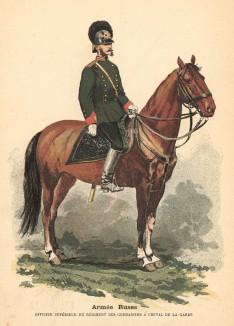 Старший офицер гвардейского полка конных гренадер (из альбома литографий Armée française et armée russe, изданного в Париже в 1888 году)