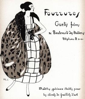 Реклама мехового ателье братьев Гели. Модели, специально созданные для читателей Les feuillets d'art. Париж, 1920