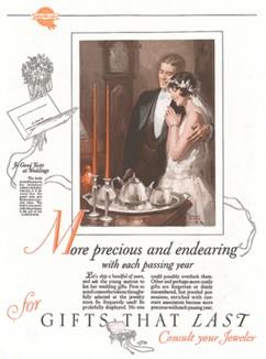 Молодожены. Реклама американской ассоциации производителей ювелирных изделий.