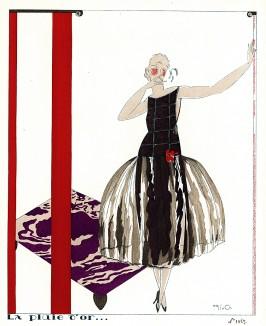 Золотой дождь. Реклама неизвестного парижского модного дома. Выполнил художник Марио Симон. Les Feuillets d'Art. Париж, 1920
