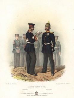Офицеры 3-го и 4-го полков прусской лейб-гварди в униформе образца 1870-х гг. Preussens Heer. Берлин, 1876