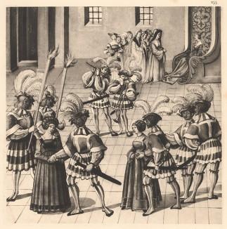 Из Freydal. Des Kaisers Maximilian I. Turniere und Mummereien (Репринт 1882 года. Вена. Лист 255)