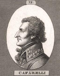 Франсуа-Огюст де Каффарелли (1766-1849), адъютант Наполеона, герой Маренго, бригадный генерал и кавалер ордена Почётного легиона (1800), дивизионный генерал и герой Аустерлица (1805). Campagnes des francais sous le Consulat et L'Empire. Париж, 1834