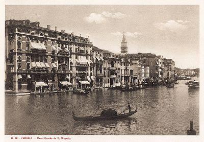 Гранд-канал в Венеции. Ricordo Di Venezia, 1913 год.