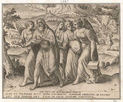 Исход Лота с семейством из Содома. Ветхий Завет. Книга Бытия.