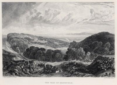 """Хитфилд (лист из альбома """"Галерея Тёрнера"""", изданного в Нью-Йорке в 1875 году)"""