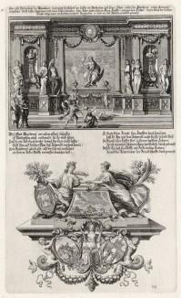 Пророк Маккавей (из Biblisches Engel- und Kunstwerk -- шедевра германского барокко. Гравировал неподражаемый Иоганн Ульрих Краусс в Аугсбурге в 1700 году)