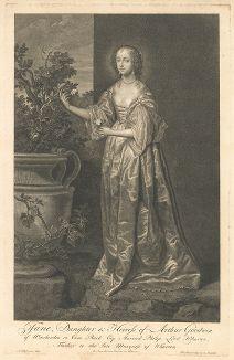 Леди Джейн Гудвин  (1618-1658), баронесса Уортон, с оригинала Антониса ван Дейка из коллекции Роберта Уолпола.