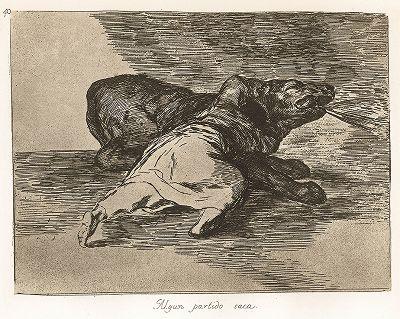 """Каждый находит выгоду. Лист 40 из известной серии офортов знаменитого художника и гравёра Франсиско Гойи """"Бедствия войны"""" (Los Desastres de la Guerra). Представленные листы напечатаны в Мадриде с оригинальных досок около 1900 года."""