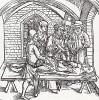 """Жаба, найденная на сердце нераскаявшейся покойницы (иллюстрация к книге """"Рыцарь Башни"""", гравированная Дюрером в 1493 году)"""