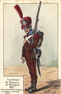 1810 г. Карабинер полка французских горных егерей. Коллекция Роберта фон Арнольди. Германия, 1911-28