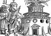 Гробница пророка Мухаммеда в Медине. Иллюстрация Йорга Бреу Старшего к описанию путешествия на восток Лодовико ди Вартема: Ludovico Vartoman / Die Ritterliche Reise. Издал Johann Miller, Аугсбург, 1515