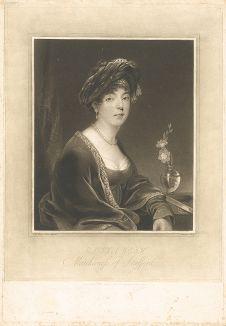 Элизабет Левесон-Гоуэр, герцогиня Сазерленд (1765-1839) с оригинала модного портретиста XIX века академика Томаса Филлипса.