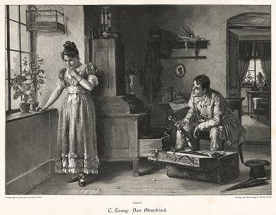 """""""Прощание"""" работы Карла Цеви. Moderne Kunst..., т. 9, Берлин, 1895 год."""