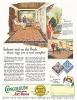 Реклама ковров компании Congoleum.