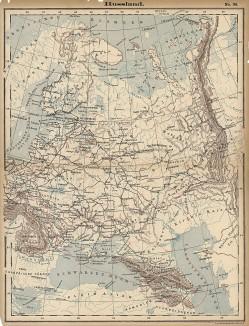 Карта Европейской России из издания Луиса Герстнера. Лейпциг, 1890-е гг.