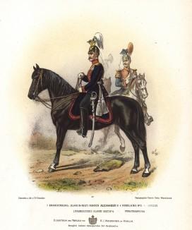 Улан 1-го бранденбургского (императора Александра II) полка прусской армии в униформе образца 1870-х гг. Preussens Heer. Берлин, 1876
