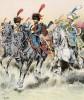 """Подразделение гвардейской конной артиллерии в парадной форме (иллюстрация к работе """"Императоская Гвардия в 1804--1815 гг."""" Париж. 1901 год. (экземпляр № 303 из 606 принадлежал голландскому генералу H. J. Sharp (1874 -- 1957))"""