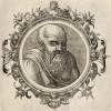 Сократ (ок. 469--399 гг. до н. э.) (лист 10 иллюстраций к известной работе Medicorum philosophorumque icones ex bibliotheca Johannis Sambuci, изданной в Антверпене в 1603 году)
