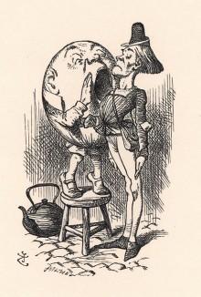 Я очень громко говорил, кричал я из последних сил (иллюстрация Джона Тенниела к книге Льюиса Кэрролла «Алиса в Зазеркалье», выпущенной в Лондоне в 1870 году)