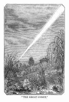 Комета, наблюдаемая в 1844 году жителями города Хобарт, основанного в 1804 году, втором по старшинству городе Австралии (The Illustrated London News №92 от 03/02/1844 г.)