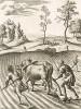 """Эклога I """"Георгик"""" Вергилия. Благодарение императору Октавиану. Лист подписного издания посвящён Томасу Тревору, 1-му барону Тревору (1658--1730 гг.)."""