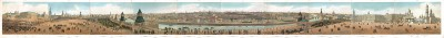 Панорама Москвы художника Дмитрия Индейцева. Panorama de Moscou. Daziaro editeur. Москва, начало 1850-х гг.