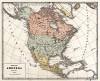 Политическая карта Северной Америки. Новый учебный географический атлас для полного гимназического курса, состоящий из 38 карт. Санкт-Петербург, 1907