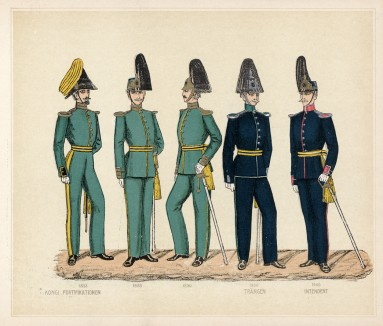 Офицеры инженерных войск шведской армии в 1833--1900 гг.