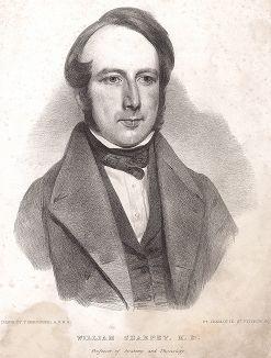 Уильям Шарпей (1802 -- 1880) - британский анатом и физиолог, профессор Университетского колледжа в Лондоне. Известнен своими работами о патологии суставов. В честь него названы впервые описанные им Шарпеевские волокна, содержащиеся в костной ткани.