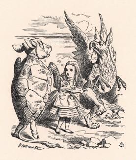 И они важно заплясали вокруг Алисы (иллюстрация Джона Тенниела к книге Льюиса Кэрролла «Алиса в Стране Чудес», выпущенной в Лондоне в 1870 году)