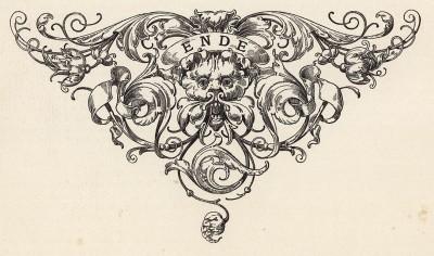 Виньетка, завершающая текстовую часть репринта легендарной книги Freydal. Des Kaisers Maximilian I. Turniere und Mummereien (Вена. 1882 год)
