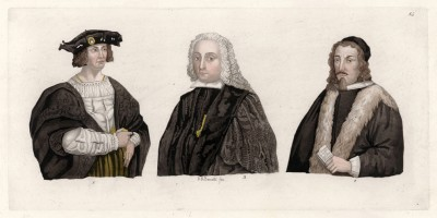 Миланские судьи (из знаменитой работы Джулио Феррарио Il costume antico e moderno, o, storia... di tutti i popoli antichi e moderni, изданной в Милане в 1822 году (Европа. Том III))