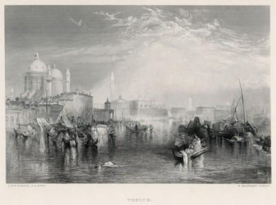 """Венеция. Вид с Гвидекки (лист из альбома """"Галерея Тёрнера"""", изданного в Нью-Йорке в 1875 году)"""