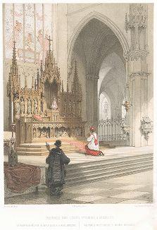 Дарохранительница в соборе Святых Михаила и Гудулы, названного в честь святой Римско-Католической Церкви, покровительницы Брюсселя.