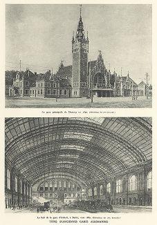 Вокзал в Гданьске и Анхальтский вокзал в Берлине в 1880-90 гг. Les chemins de fer, Париж, 1935