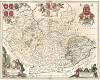 Карта графства Лестершир. Leicestrensis comitatus cum Rutlandia. Vulgo Leicester & Rutland Shire. Составил Ян Янсониус. Амстердам, 1646